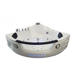Baignoire balneo d'angle tactile Premium
