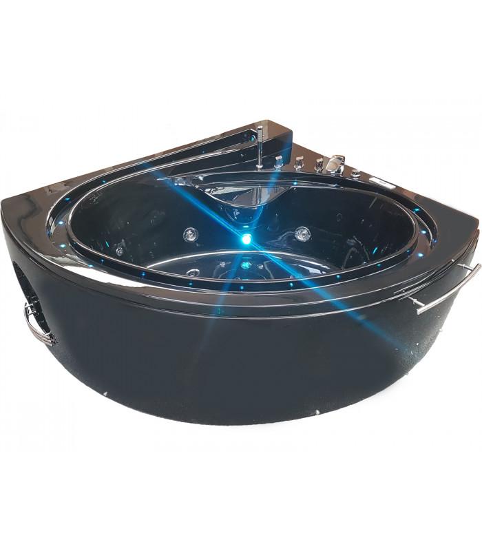 Baignoire balneo d'angle 165x148 Pur Acrylique Noir