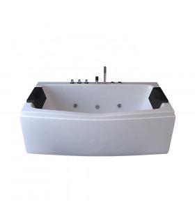 Baignoire balneo rectangulaire 170x75 blanche