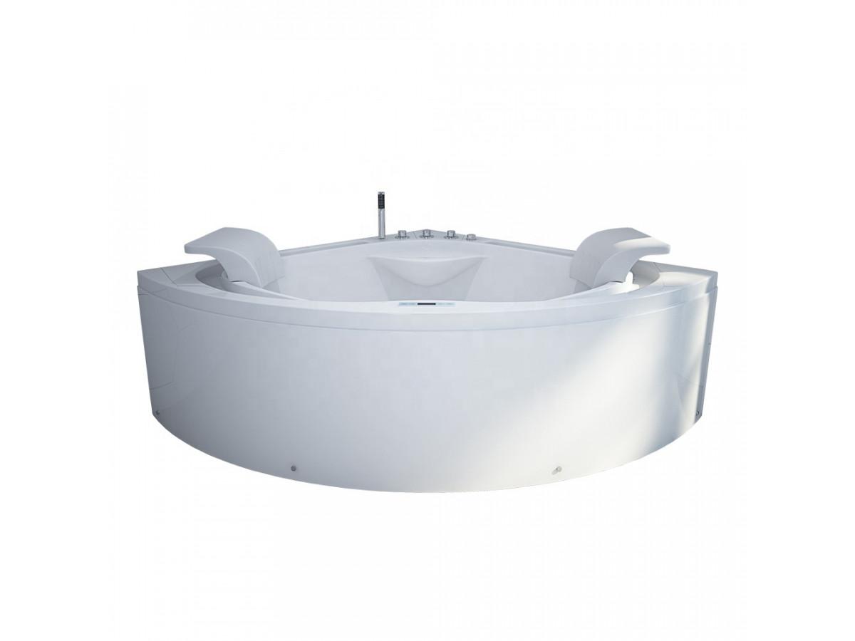 Baignoire Fibre De Pierre baignoire balneo d'angle 160 x 160 double cascade blanche