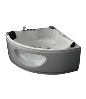 Baignoire d'angle balneo 150x150 pur acrylique blanche