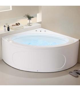 Baignoire balnéo d'angle 155 x 155 chute d'eau périphérique new design