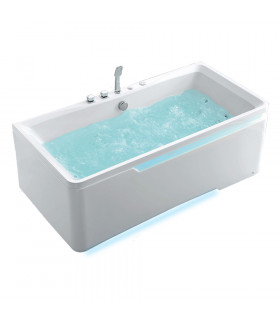 Baignoire droite balnéo 175 x 85 Milk-bath ou 24 jets