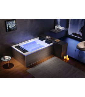 Baignoire balnéo duo 25 jets 186x122 ultra luxe