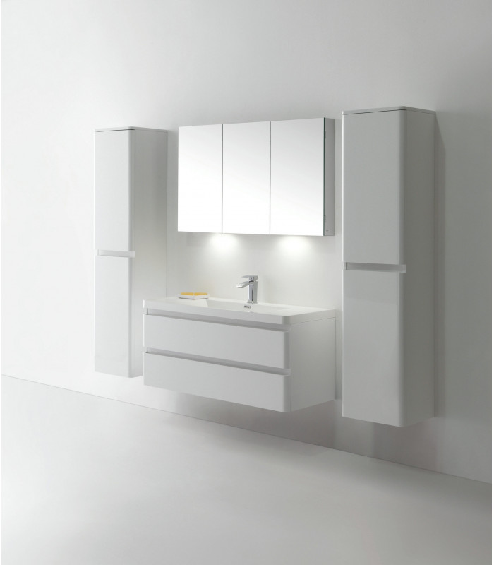 Meuble de salle bain MS-A120 en Blanc