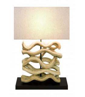 Lampe en bois flotté ONDES