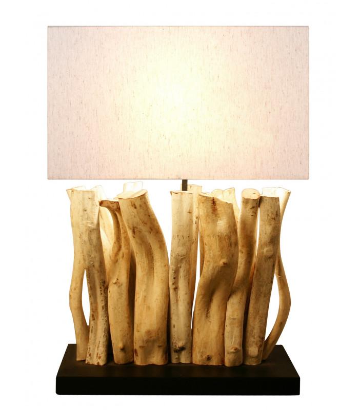Lampe en bois flotté SILIA