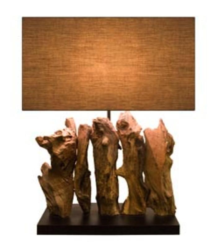Lampe en bois flotté ARAGON