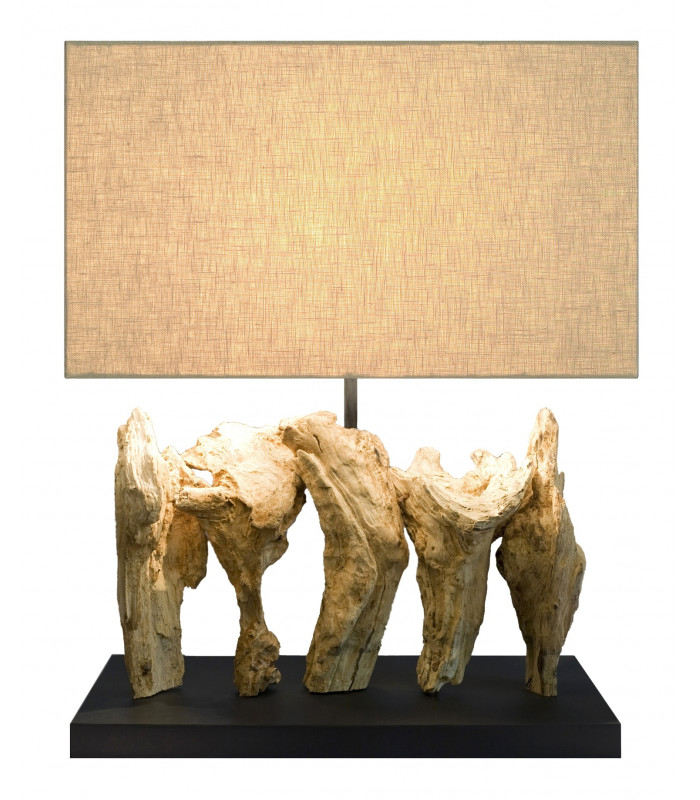 Lampe en bois flotté SOCRATE