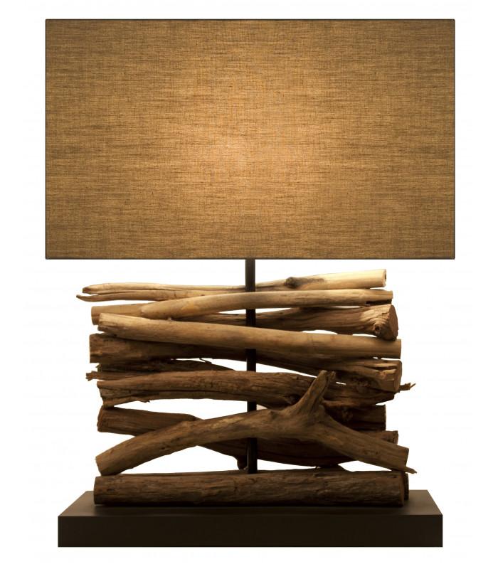 Lampe en bois flotté TERRE