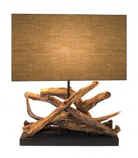 Lampe en bois flotté PATANGA