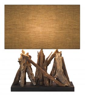 Lampe en bois flotté WOOD VERTIGO