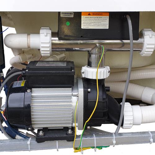 Réchauffeur monté en sortie de pompe à eau