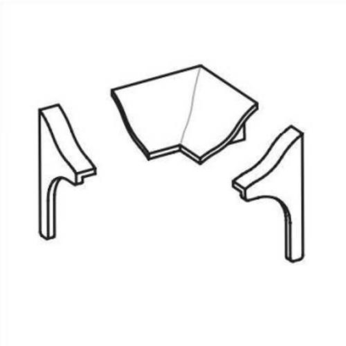vue éclatée du lot d'accessoires pour le joint d'étanchéité amovible