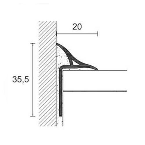 vue en coupe du joint d'étanchéité amovible