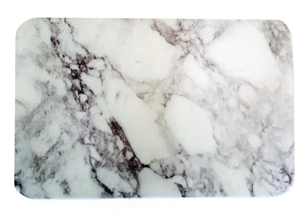 Tapis de bain en daitomite motif marbre